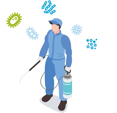 Desinfection repondant aux normes environnementales